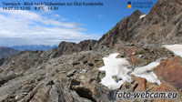 Tisenjoch - Blick nach Südwesten zur Ötzi Fundstelle