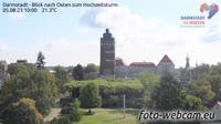 Darmstadt - Blick nach Osten zum Hochzeitsturm